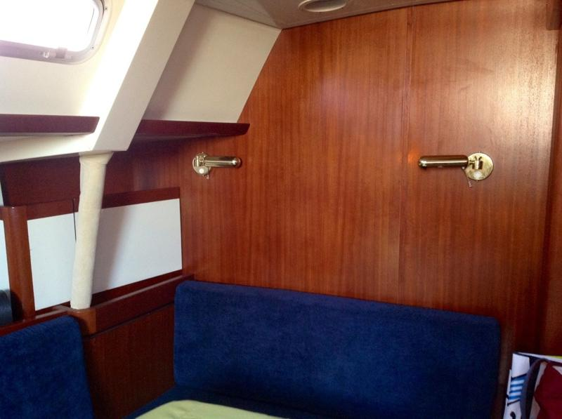 Saloon light fixtures; these are identical in both forward and aft cabins.