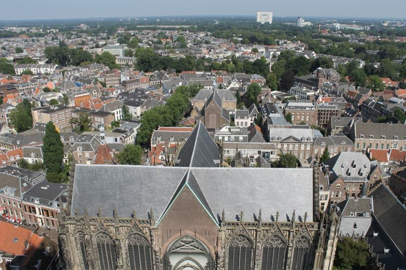 Roof of the church behind Dom Tower; these two buildings were once joined.