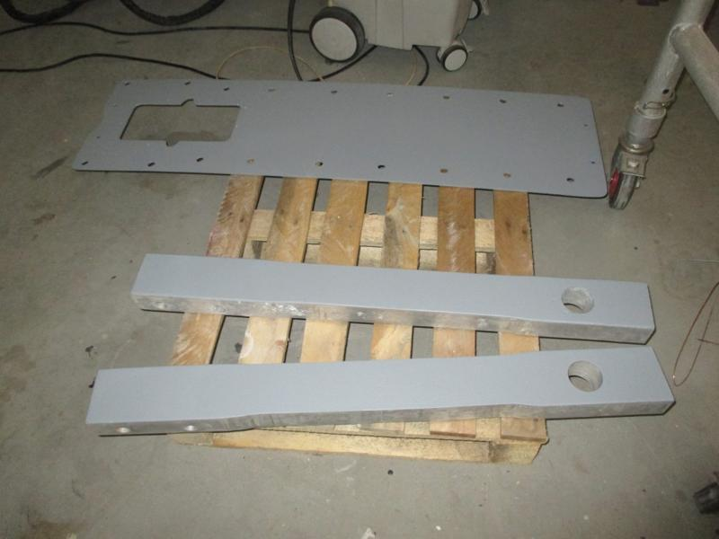Interior, centerboard trunk cover and both centerboard support posts