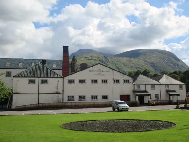 The distillery, with tomorrow's destination in the background!